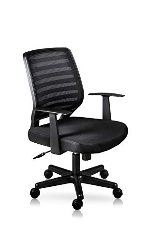 I SEATING Silla Oficina ejecutiva semiejecutiva Escritorio para computadora Silla Gamer Tivoli Negro Hom