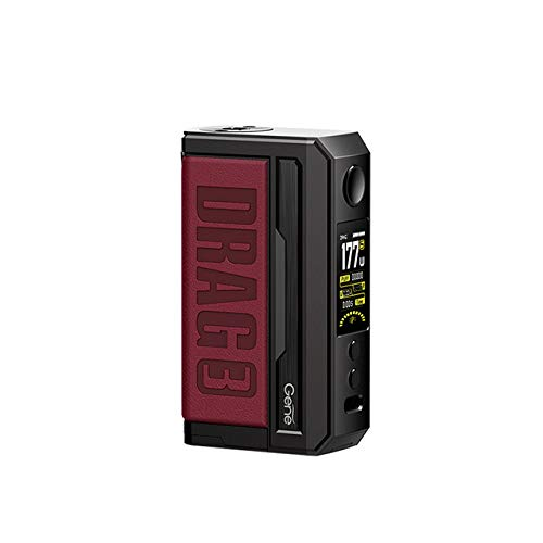 Original Voopoo DRAG 3 MOD TC 177W Electronic Cigarette Box MOD Vape Support TPP Pnp Pod Cartridge TPP-DM1 TPP-DM2 Vaporizer (Marsala)