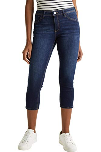 ESPRIT Damen 030EE1B330 Jeans, Blau (901 Blue Dark Wash), 30/22