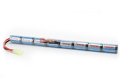 Tenergy Airsoft Battery 9.6V 1600mAh NiMH Stick Battery High Performance Stick Type Batteries w/Mini Tamiya Connector for Airsoft Gun AK47 Rifles