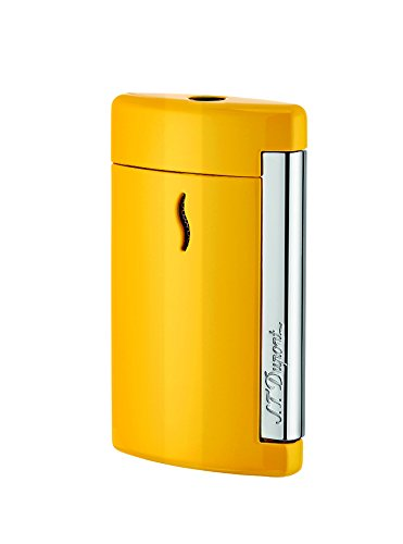 Great Price! S.T. Dupont Minijet Yellow Pop Lighter, Lacquer, Chrome Trim, 010515