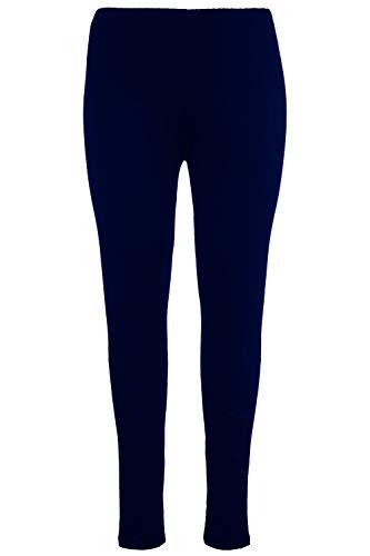 Ulla Popken Damen große Größen bis 76, Leggings mit Rundum-Gummibund, Slim Fit, weiches Jersey, Elastische Qualität, schwarz 58/60...
