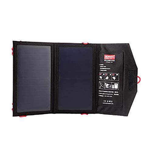NBWS Draagbare zonne-oplader, waterdichte opvouwbare tas op zonne-energie, 5 V 10 W, draagbare zonnepaneel, batterijlader, onderhoudsbundel voor iPhone, iPad Samsung en meer camping buitenshuis