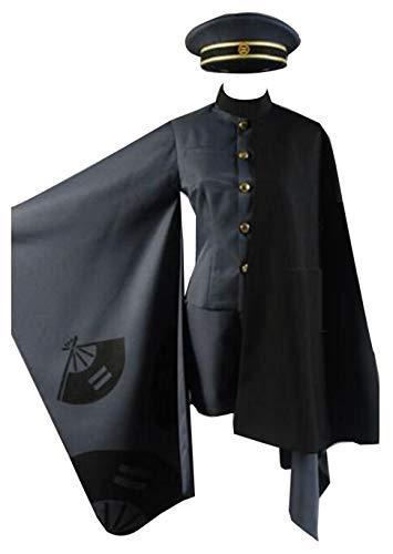 Nsoking Kagamine LEN Cosplay Costume Anime Kimono Cloak Suit Outfit (Women-M, Black Set)