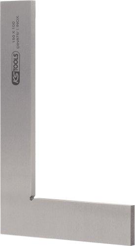 KS Tools 300.0202 Escuadra de taller lisa (longitud de los brazos 200 x 130 mm, sección transversal 30 x 6 mm, 200 mm), 200mm