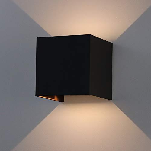 K-Bright Applique Murale 7W LED Lampe Carrée Murale Interieur Exterieur Réglable éclairage Lumières de la Nuit mur Projecteur Lampe Moderne Lampe Murale,Blanc Chaud