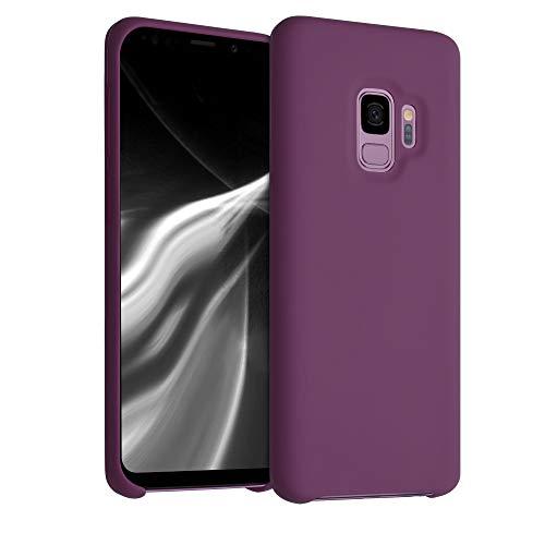 kwmobile Funda Compatible con Samsung Galaxy S9 - Carcasa de TPU para móvil - Cover Trasero en Magenta Oscuro