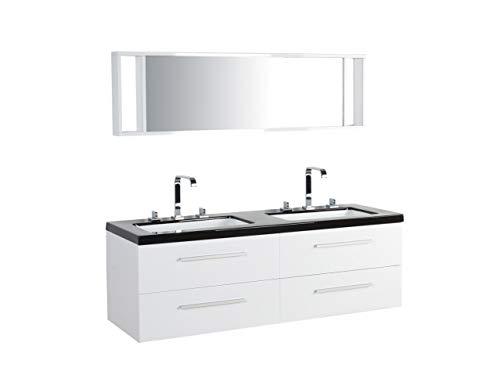 Beliani Malaga - Juego de Muebles de baño con Lavabo (Armario y...