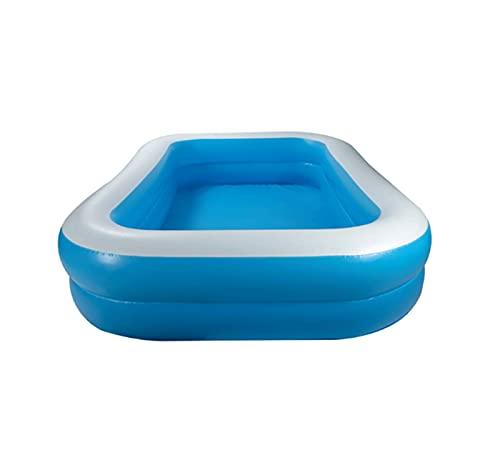 JOK Piscina inflable familiar rectangular engrosada, piscina simple, adecuado para niños, familia, tierra, patio trasero, al aire libre,