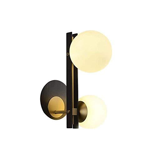 MKXF Lámpara de Pared Luces montadas Lámpara de Pared de Estilo Moderno TV posmoderna Fondo de Pared Escalera Simple Entrada Pasillo Lámpara de Pared de Cobre para casa, Villa, Bar, restaurantes