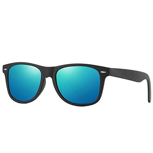 Kaper Go Gafas de sol polarizadas clásicas para mujer conducción, color negro, marco grande, protección UV400 (color: azul)