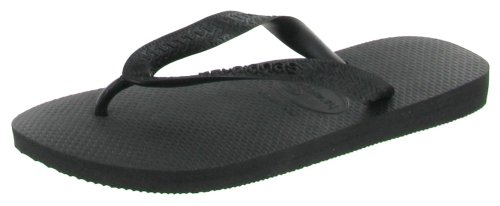 Havaianas Women's Top Flip Flop Sandal,Black,37/38 BR (7-8 M US Women's/ 6 M US Men's)