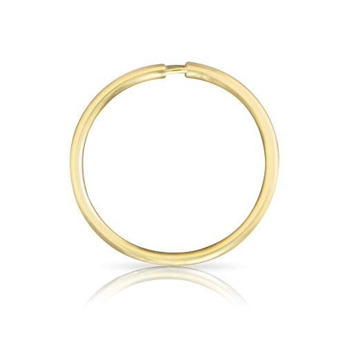 ONDAISY 1PCS 20G 12mm 14k Solid Real Gold Round Hoop Tragus Helix Cartilage Daith inner outer Conch Ring Ear Piercing Earring