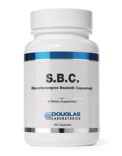 Douglas Laboratories - S.B.C. (Saccharomyces Boulardii Capsules) - Nonpathogenic Probiotic to Support Healthy Bowel Function - 50 Capsules