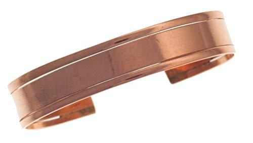 Pulsera de Cobre con 3 brazaletes Elegantes, sin imanes