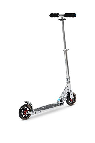 Micro Kinderroller Speed+ Scooter in Silber glänzend