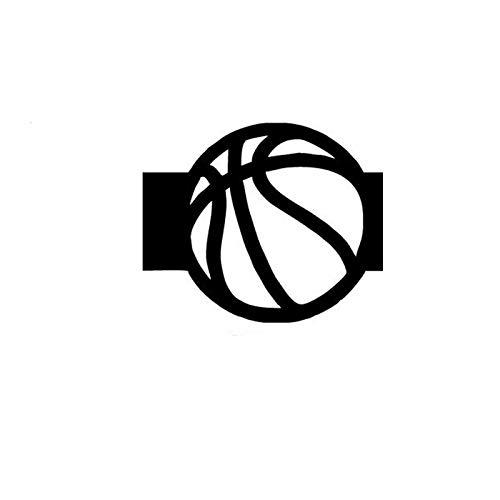 ZHYCT 2 Stücke, 11x9 cm Silhouette Basketball Sport Schwarz Lustige Auto Aufkleber Vinyl Aufkleber, Autofenster Aufkleber, Auto Autoaufkleber Tattoo Aufkleber, Motorrad Aufkleber Kunst Dekorative