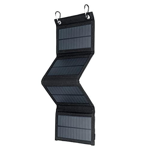 MagiDeal Generador de estación de energía portátil con panel solar plegable de 20 vatios con dispositivos de puerto USB, cargador de panel solar portátil para