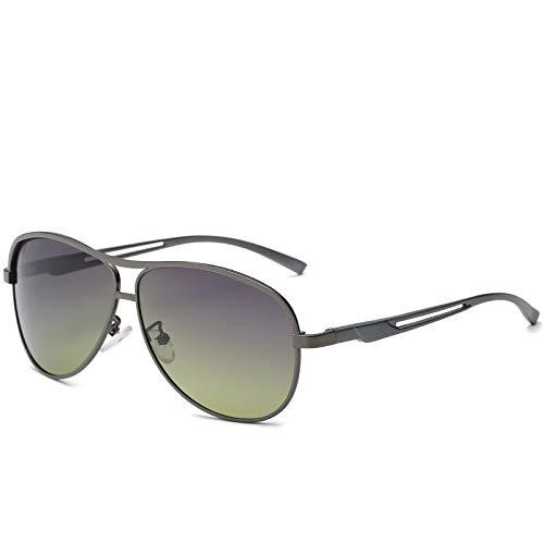 Gafas de Sol Gafas de Sol polarizadas de Tendencia Fresca clásica Gafas de Sol Retro Marco de Aluminio y magnesio Gafas de conducción Diurna y Nocturna protección para los Ojos (Color : A)