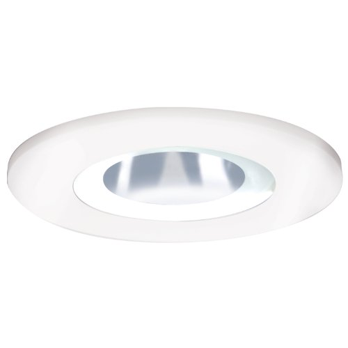 HALO Recessed 3008FG 3-Inch 15-Degree Shower Light White Plastic Trim with Frosted Glass Lens