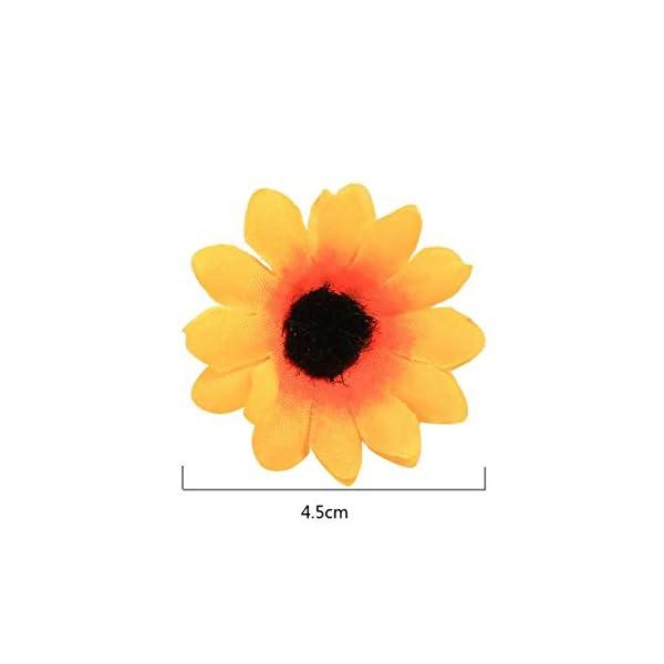 BSTHP Decoración de cabeza de flor, 50 piezas de girasol artificial (amarillo)