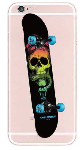 Coquefone - Cover per iPhone 6/6S, skateboard, skateboard, teschio, serpente