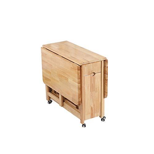 CHICAI Mesa de Comedor de 1.3m Playa de Gota Plegable Mariposa Muebles de Cocina de Madera Maciza Pino Natural (Solo Mesa Plegable) (Color : Wood Color)
