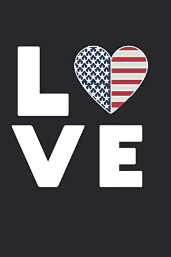 Ich liebe LOVE USA Amerika United States of America Flagge Fahne Herz: Schulplaner, Hausaufgabenheft, Tagebuch, Notizbuch, Buch 91 Seiten im Softcover ... 2019/2020 auf einer Doppelseite jeweils ein