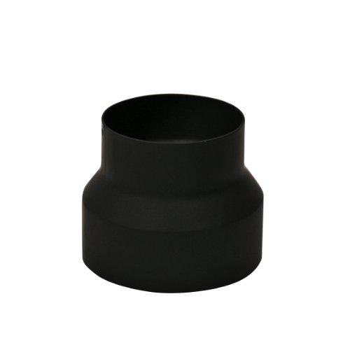 Kamino-Flam Reduzierung Senotherm - Ofenrohr für Anschluss an Wandfutter - Hitzebeständig lackiertes Kaminrohr - Abzugrohr EN 1856-2 - Rauchrohr von 150 auf 120 mm - Rohr aus Stahlblech