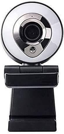 Webcam 1080P Full HD, videollamadas y grabación, enfoque automático, cámara facial con doble micrófono para PC, micrófono integrado adecuado para el hogar, equipo de computadora (color plateado)