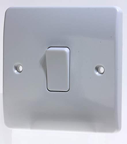 MK Electric 10 A Logic Plus 1-Gang SP 1-Wege-Schalter, weiß