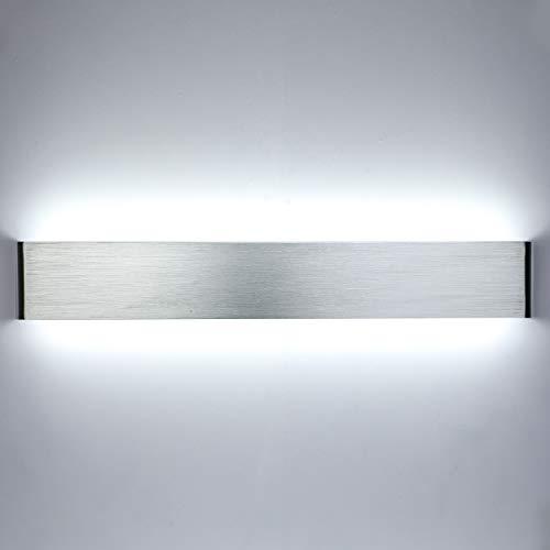 Lightess 24W 61 CM Apliques de Pared LED Lámpara de Pared Interior Luz Moderna Agradable Luz de Aluminio Iluminación para...