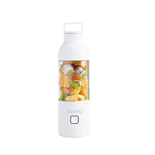 Batidora portátil, recargable USB fruta personal, taza exprimidor, mezclador de alimentos for bebés, jugo de cristal extractora for el hogar, los viajes, al aire libre, de 600 ml, for el hogar, viajes