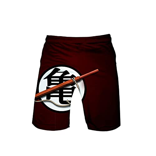 yrxh Pantalones cortos de natación para hombre, diseño de anime, talla 3