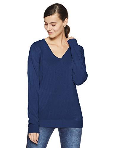US Polo Association Women's Sweater (UWSW0800_Estate Blue_M FS)