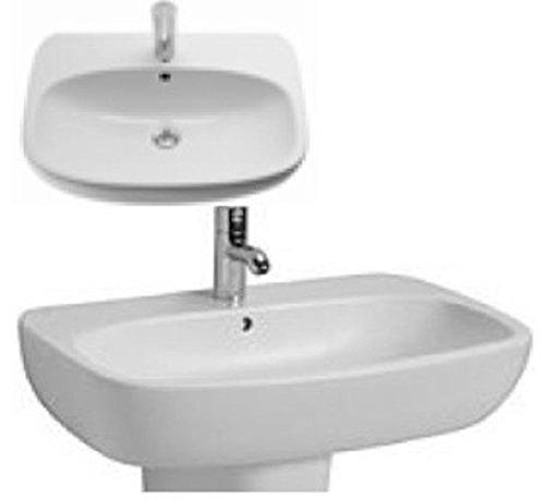 Ceravid Cavea Waschbecken Breite 60cm weiß Alpin, ohne Armatur, C48060000