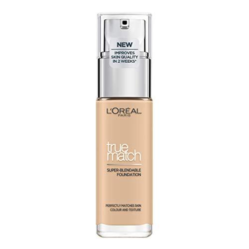 L'Oréal Paris True Match Foundation 1.5.N Linen - L'Oréal Foundation met Hyaluronzuur & Natuurlijke Dekking, met SPF 17-30 ml (Perfect Match), 1.5 N Linen