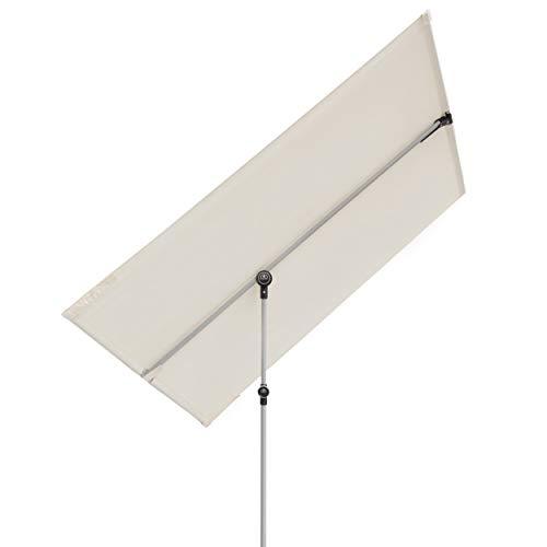 Doppler Active Balkonblende – Rechteckiger Sonnenschirm ideal für den Balkon –Plus Sichtschutz – 180x130 cm – Natur