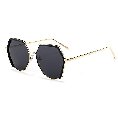 Asncnxdore Gafas De Sol UV400 Polygon Metal Fashion Gafas De Sol Polarizadas Gafas De Sol for Exterior