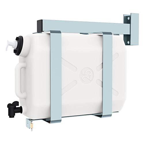 Waschwassertank 25 Liter mit verzinkter Halterung und Seifenspender