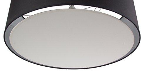 Difusor blanco bajo la pantalla de lámpara, para una pantalla cilíndrica de 45 cm de diámetro
