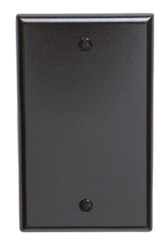 Leviton 85014 1-Gang No Device Blank Wallplate, Standard Size, Thermoset, Box Mount, Brown