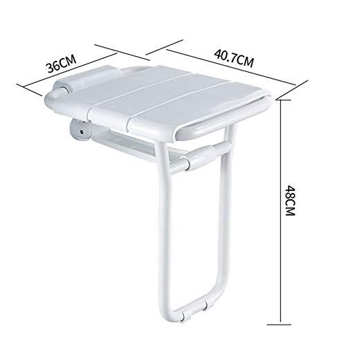 Bathroom Handrail LDFZ Opvouwbare wanddouchekruk, ABS-kunststof, voor ouderen/gehandicapten, antislip douchekruk, max. Lagers: 180 kg, dagelijks gebruik.