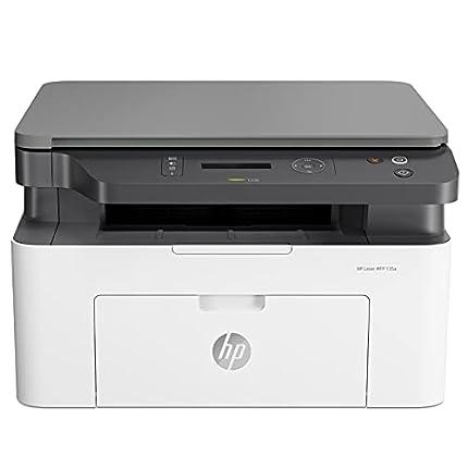HP Laser MFP 135a 4ZB82A, Impresora Láser Multifunción Monocromo, Imprime, Escanea y Copia, USB 2.0 de alta velocidad, Panel de Control LCD de 2 Líneas, Blanca