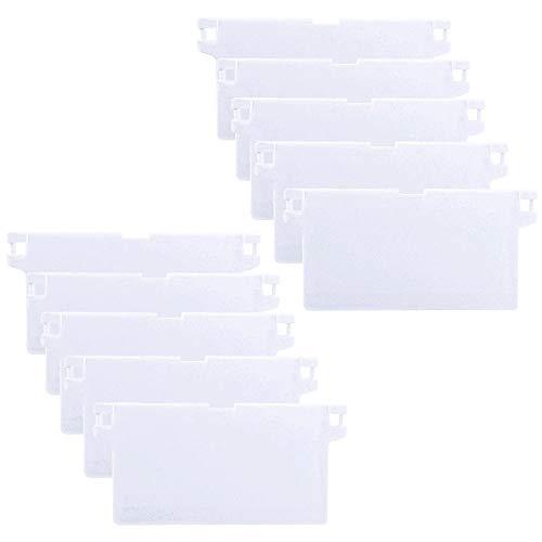 HO2NLE 10pcs Lamellenvorhang 127 mm(5 Zoll) Lamellen Gewichte Vertikaljalousie Ersatzteil Weiß Vertical Blinds für Vorhang Tür Fenster Wohnzimmer