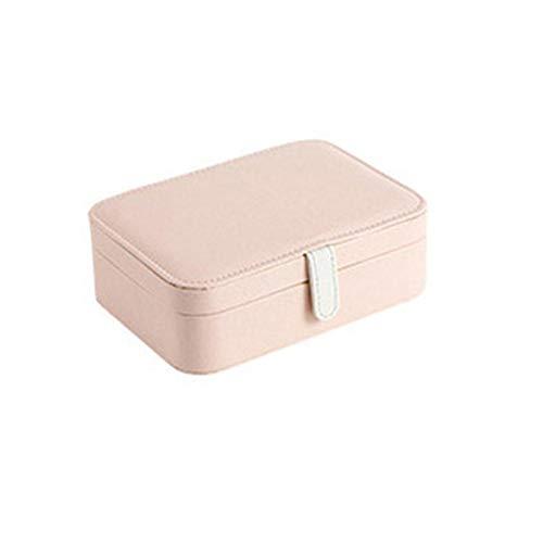 ASDMRQ Caja de joyería, caja de joyería portátil de viaje, caja de almacenamiento de joyas de cuero, caja de almacenamiento de joyería de collar de pendiente multifunción
