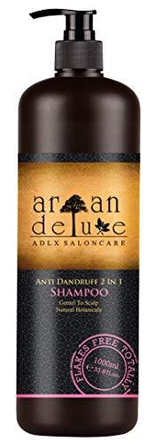 Argan Deluxe Antiroosshampoo in kapperskwaliteit 1000 ml - helpt tegen roos en jeukende hoofdhuid