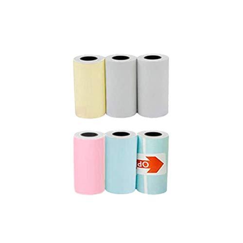 Thermopapier 6 Rollen Thermopapierrollen Thermodruckpapierrollen kompatibel für Drucker für Arbeitsplan Memo Study Notes Listen Journaldruck Kompatibel 57 mm x 30 mm