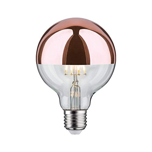 Paulmann 284.57 LED Globe Ø95mm 7,5W E27 230V Kopfspiegel rosegold Kupfer Warmweiß 28457 Leuchtmittel Lampe