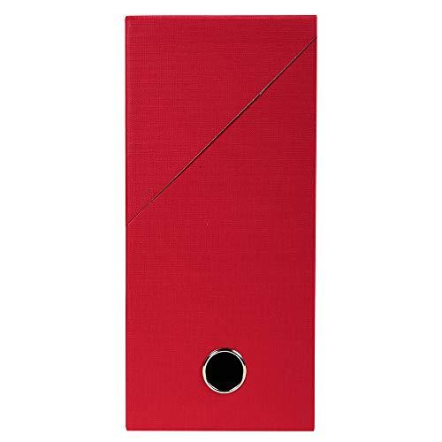 Exacompta - Réf. 89425E - 1 Boîte transfert en papier toilé - Dos 120 mm - Avec un œillet en métal - Pour format A4 - Dimensions 25,5 x 34 x 12 cm - Couleur rouge - Livrée montée